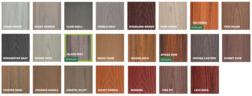 Trex Deck Colors
