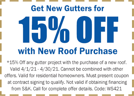 April Gutters Coupon